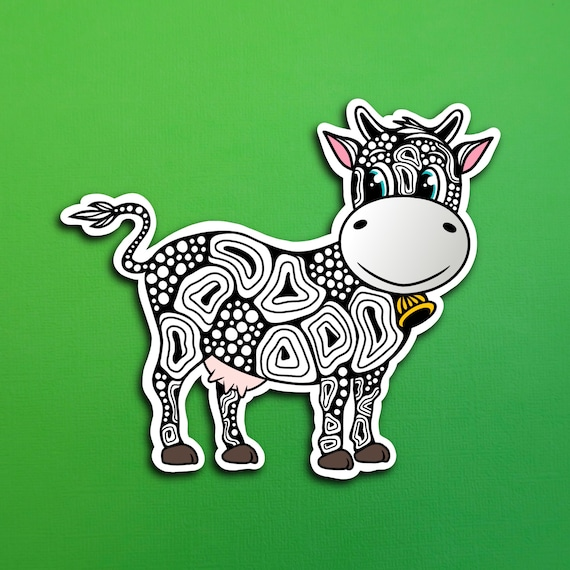 Colton the Cow Sticker (WATERPROOF)