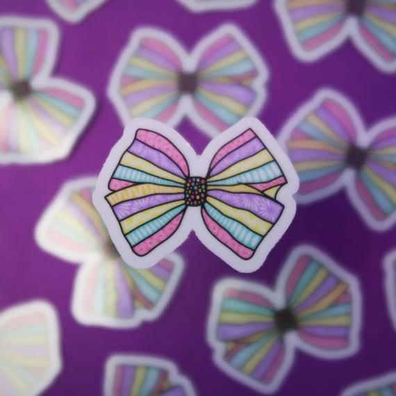 Mini Bow Sticker (WATERPROOF)