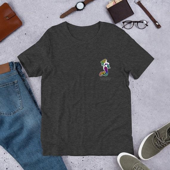 Mermaid Pocket Design Unisex T-Shirt