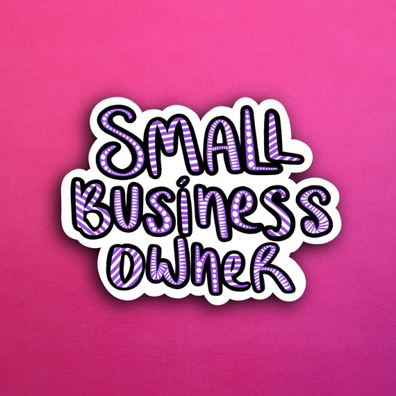 Purple Small Business Owner Sticker (WATERPROOF)