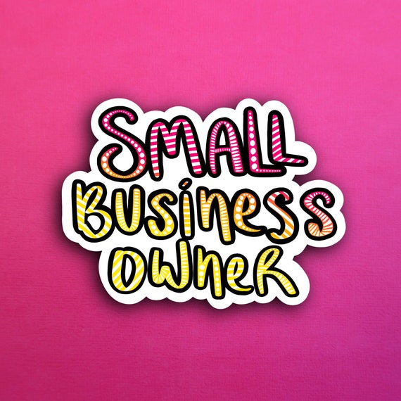 Sunset Small Business Owner Sticker (WATERPROOF)