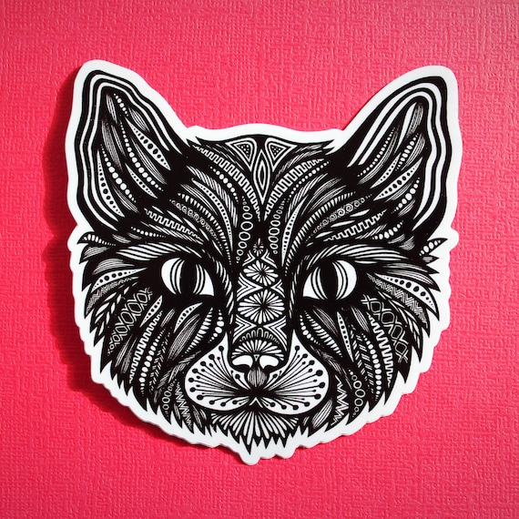 Cat Head Sticker (WATERPROOF)