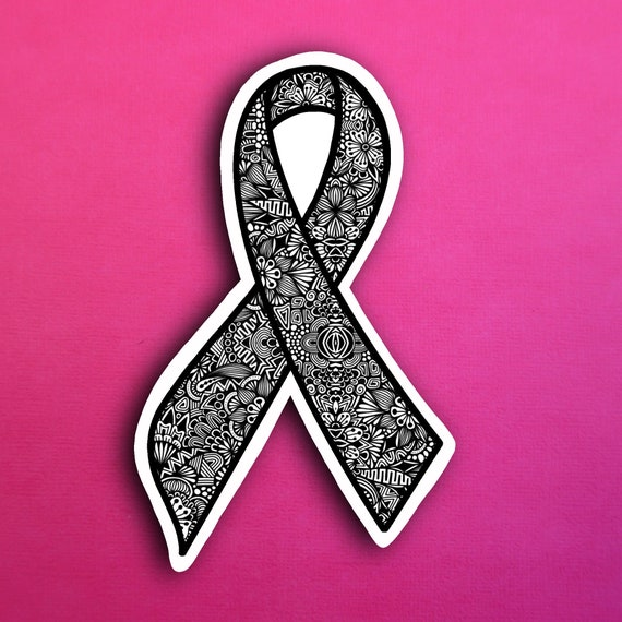 Black Ribbon Sticker (WATERPROOF)