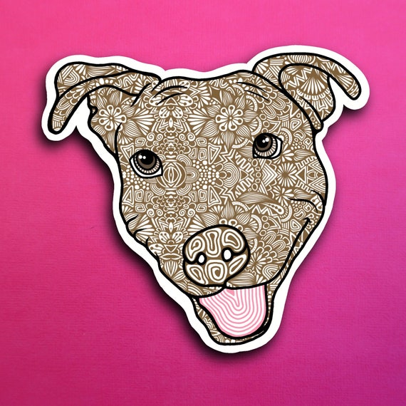 Brown Pittbull Sticker (WATERPROOF)