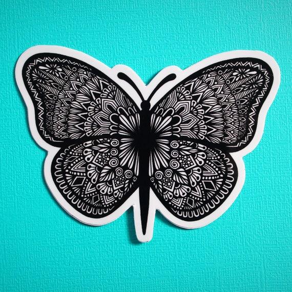 Butterfly B&W Sticker (WATERPROOF)