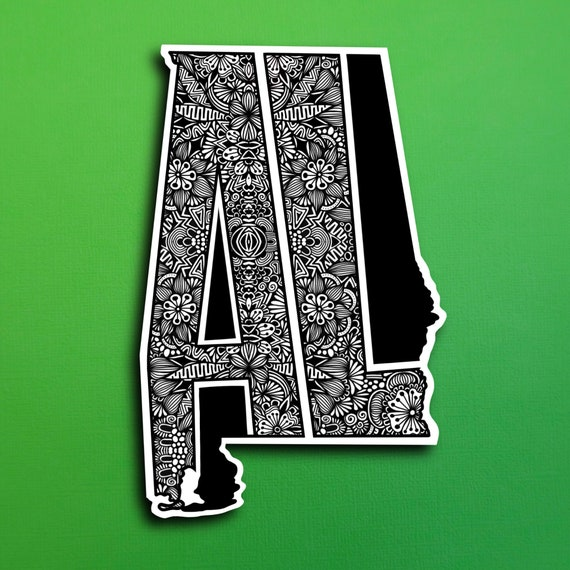 State Alabama Sticker (WATERPROOF)