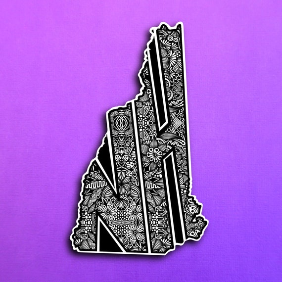 New Hampshire Sticker (WATERPROOF)