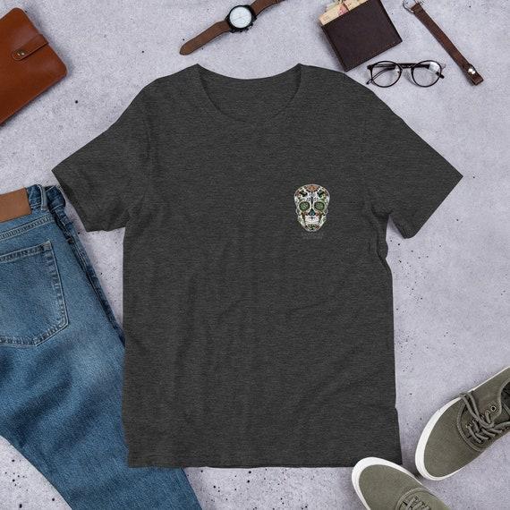 Sugar Skull Pocket Design Unisex T-Shirt
