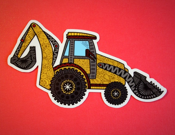 Digger Truck Sticker (WATERPROOF)