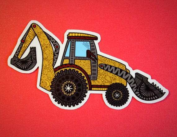 Digger Truck Sticker (WATERPROOF)