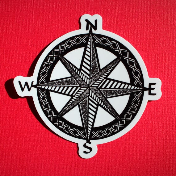 Compass Sticker (WATERPROOF)