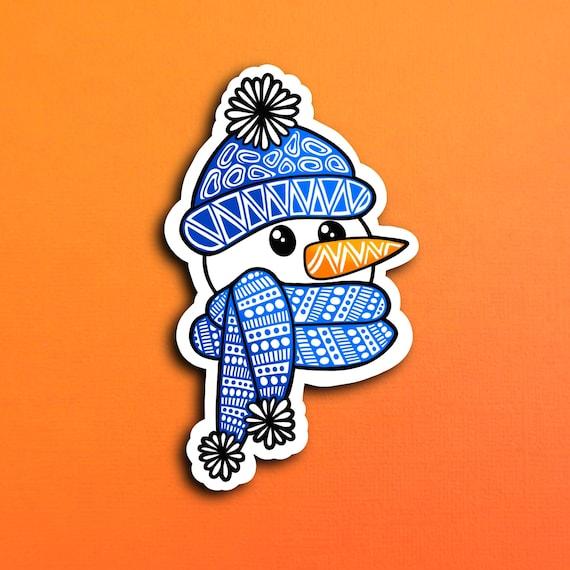 Snowman Head Sticker (WATERPROOF)