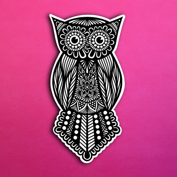Big Eyes Owl Sticker (WATERPROOF)