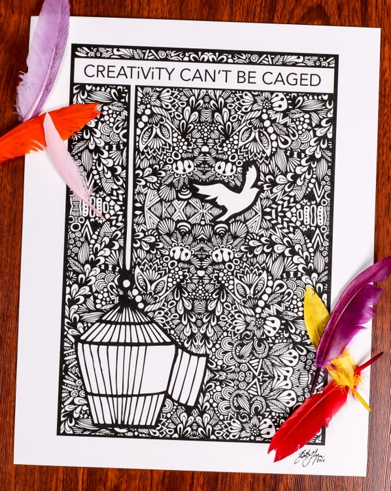 Zentangle - Creativity Can't Be Caged