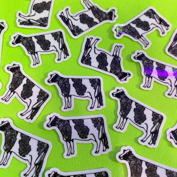 Mini Cow Sticker (WATERPROOF)