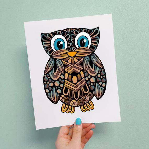 Oscar the Owl Print