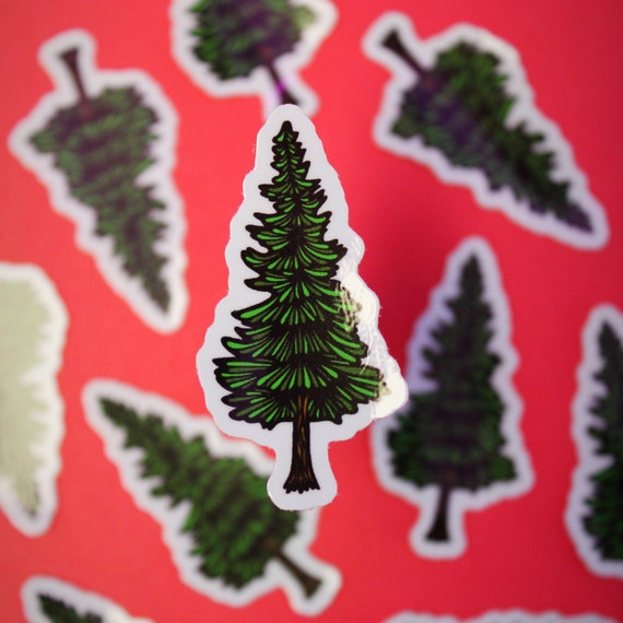 Mini Pine Tree Sticker (WATERPROOF)