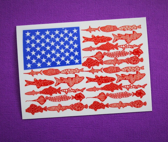 Fish Flag Sticker (WATERPROOF)