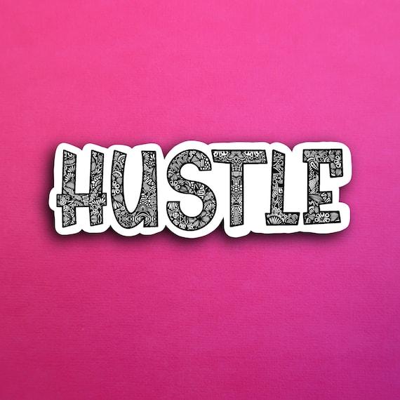BW Hustle Sticker (WATERPROOF)