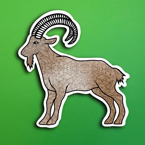 Goat Sticker (WATERPROOF)