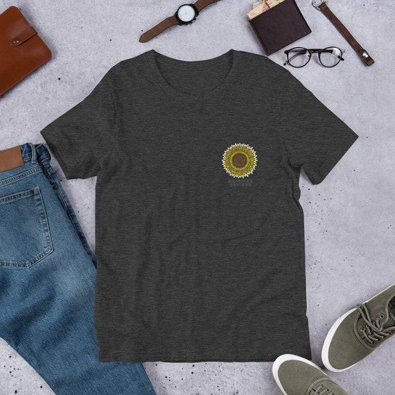 Sunflower Pocket Design Unisex T-Shirt