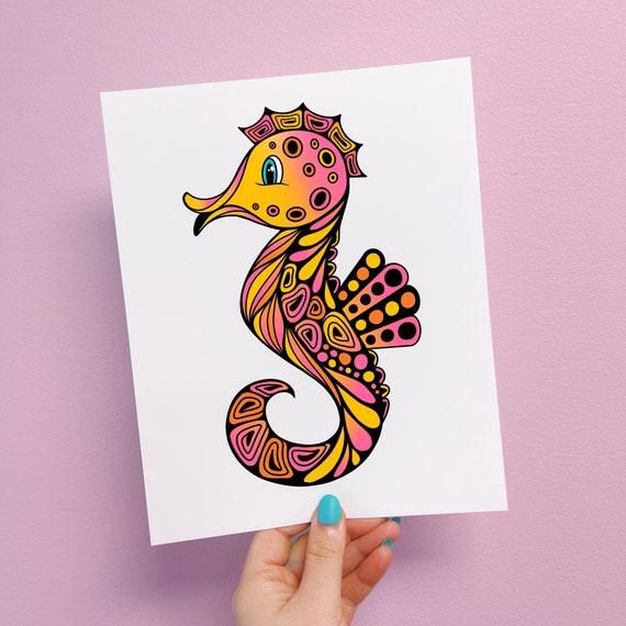 Sadie the Seahorse Print