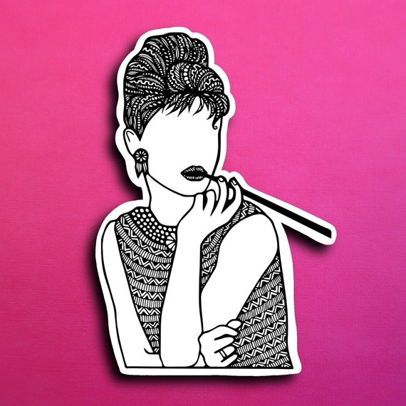Audrey Hepburn Sticker (WATERPROOF)