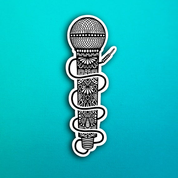 Microphone Sticker (WATERPROOF)