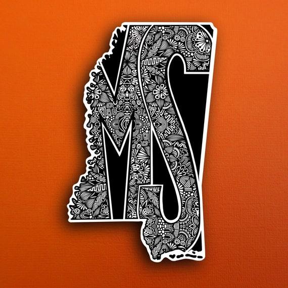 State Mississippi Sticker (WATERPROOF)