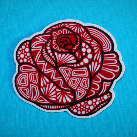 Rose Sticker (WATERPROOF)