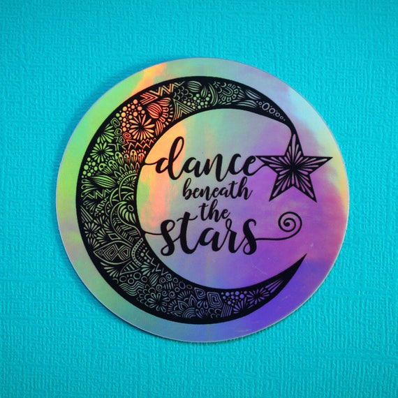 Holo Dance Beneath the Stars Sticker (WATERPROOF)