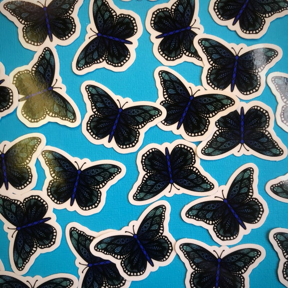 Mini Blue Butterfly Sticker
