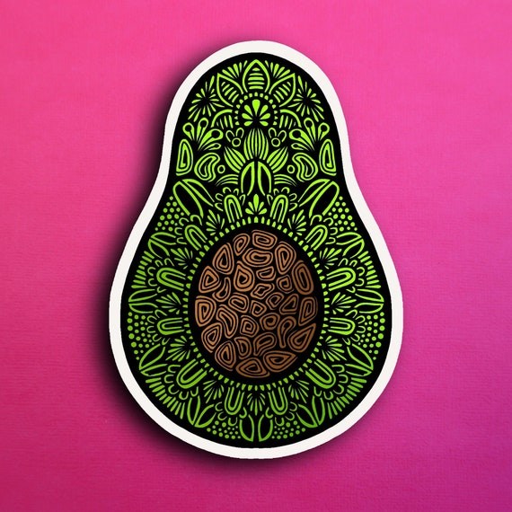 Avocado Sticker (WATERPROOF)