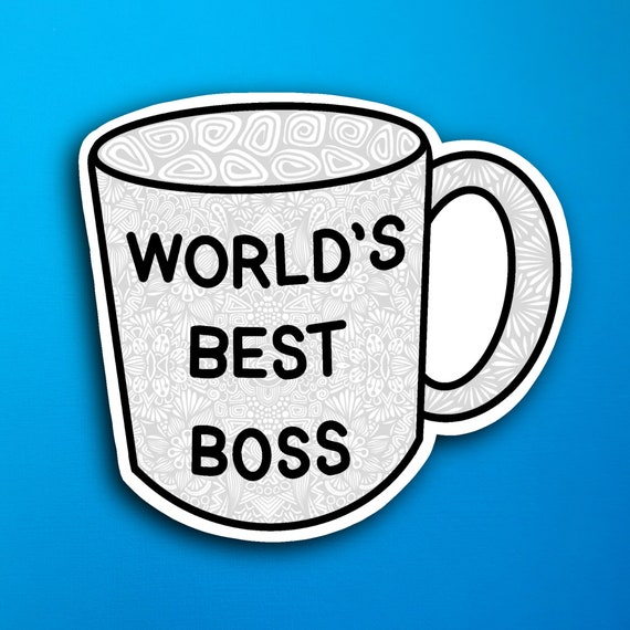 World's Best Boss Sticker (WATERPROOF)
