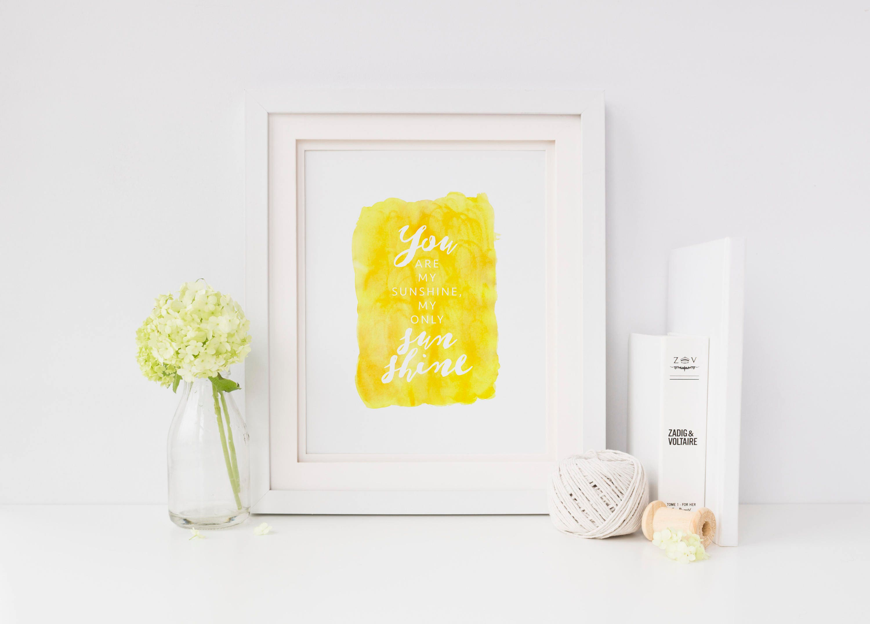You Are My Only Sunshine PRINTABLE Nursery Wall Art Baby | Etsy