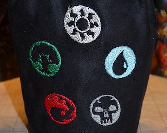 Dice Bag custom Embroidery Magic the Gathering Energy Types Bag