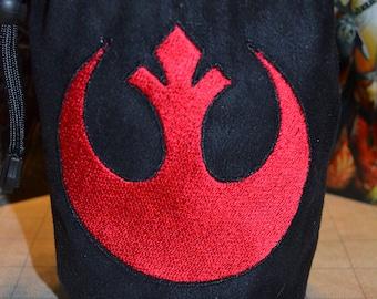 Star wars Dice Bag Rebels Embroidered Suede