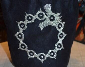 Dice Bag Seven Deadly Sins meliodas symbol Embroidered suede