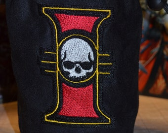 Dice Bag Warhammer 40K Imperial Inquisition Embroidered Suede