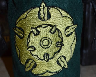 Dice Bag game of thrones Tyrell Embroidery Gray Suede