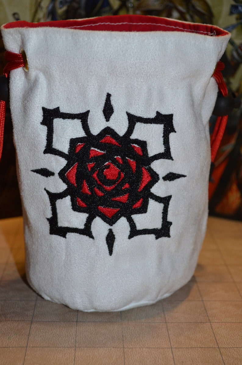 Dice Bag Vampire Knight Embroidered suede image 0