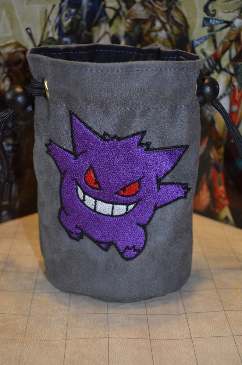 Dice Bag Gengar squad Embroidered suede image 0