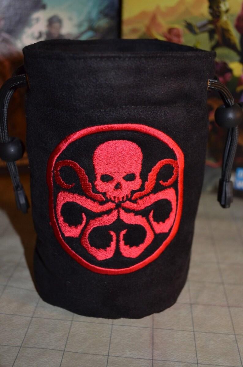 Dice Bag custom Embroidery Suede Hydra image 0