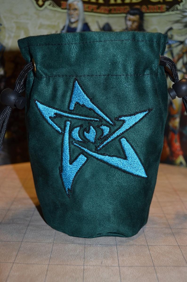 Dice Bag Green Cthulhu Elder Star image 0