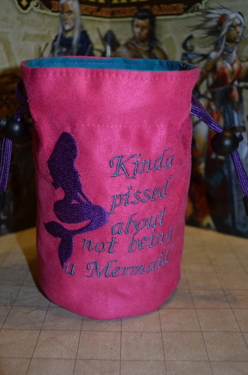 Dice Bag Mermaid Sass Embroidered suede image 0