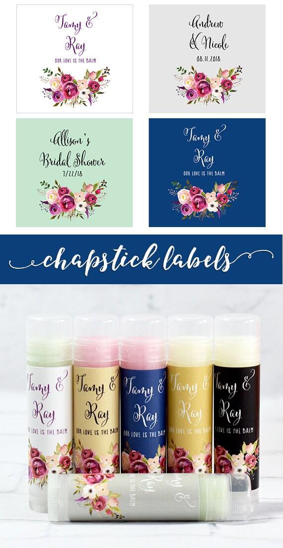 Bridal Shower Chapstick Label 30ct