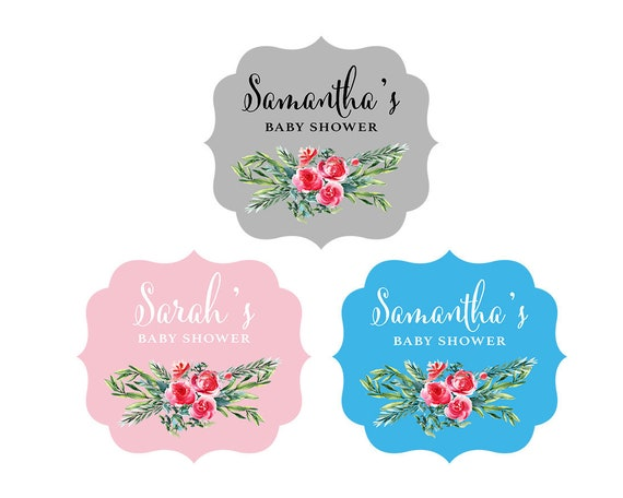 floral decorative labels 24ct vintage baby shower sticker floral