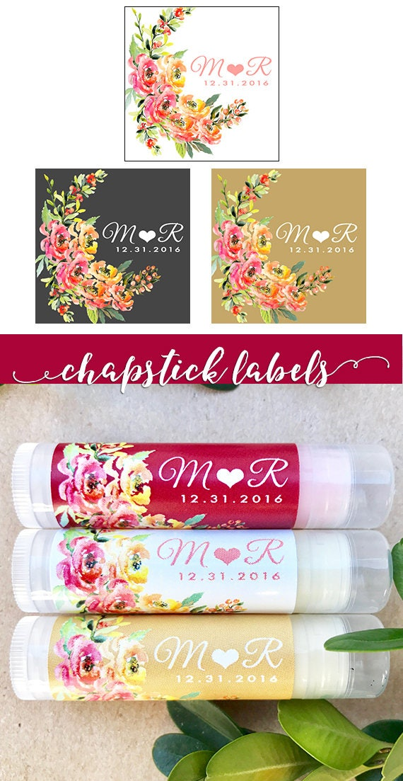 Personalized Lip Balm Labels 15ct