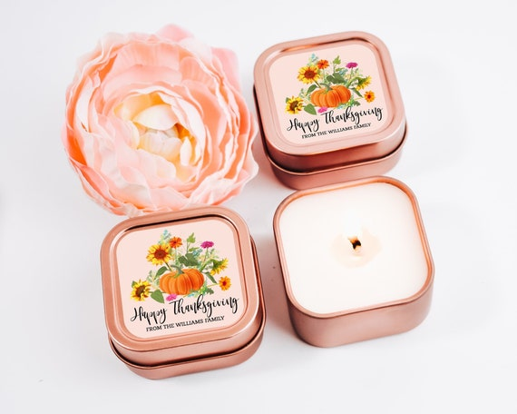 Thanksgiving Candles 12ct Personalized