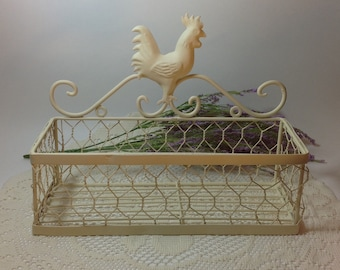 Upcycled wire basket   Etsy